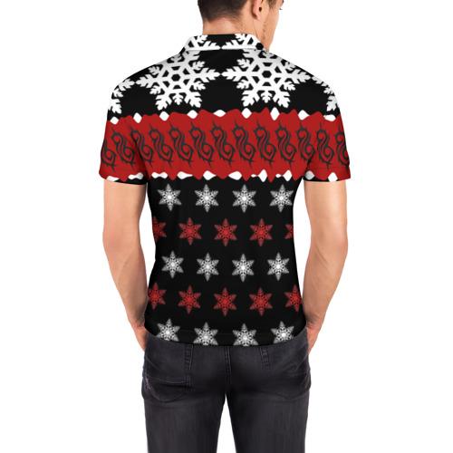 Мужская рубашка поло 3D  Фото 04, Праздничный Slipknot