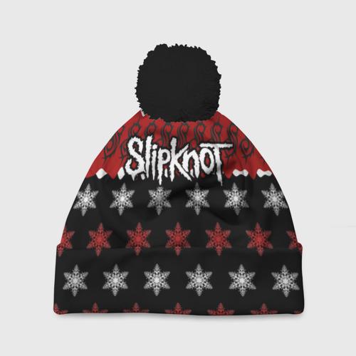 Шапка 3D c помпоном Праздничный Slipknot