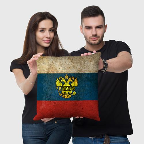 Подушка 3D  Фото 05, Саша в гербе, на флаге РФ