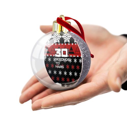 Ёлочный шар с блестками  Фото 03, Праздничный 30 Seconds to mars