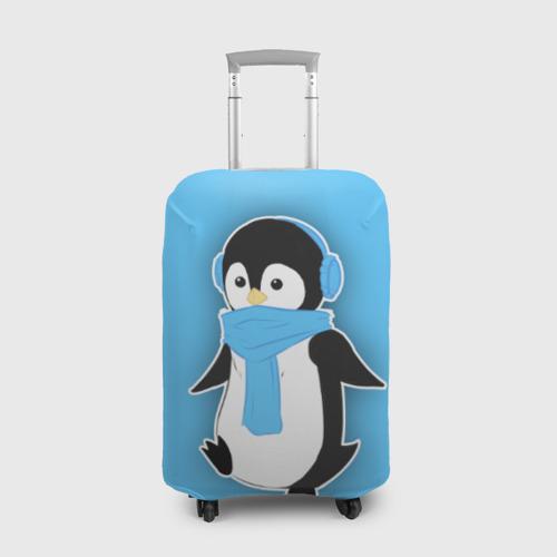 Чехол для чемодана 3D Penguin blue Фото 01