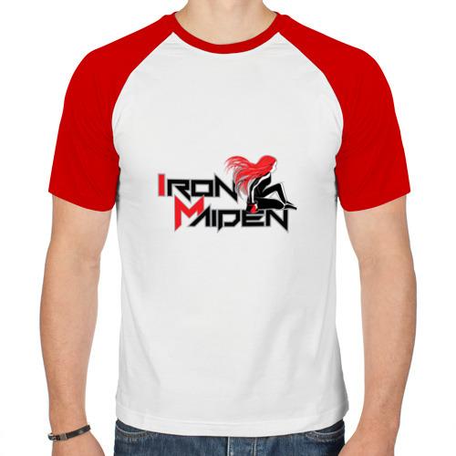 Мужская футболка реглан  Фото 01, Iron Maiden, рыжая девушка