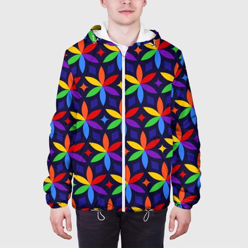 Мужская куртка 3D  Фото 04, Holi flowers