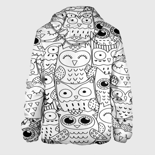 Мужская куртка 3D  Фото 02, Совушки pattern