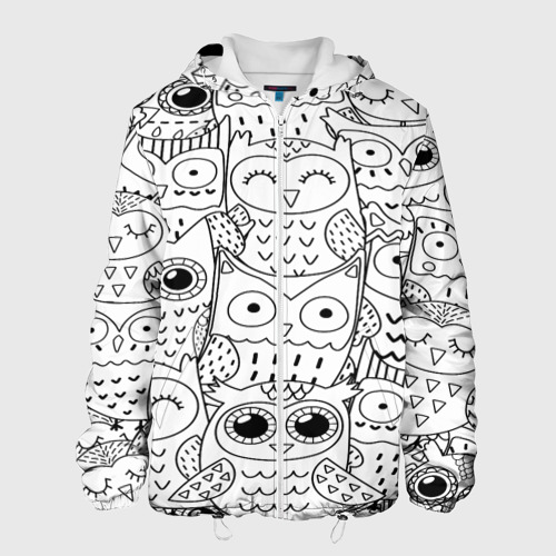 Мужская куртка 3D  Фото 01, Совушки pattern