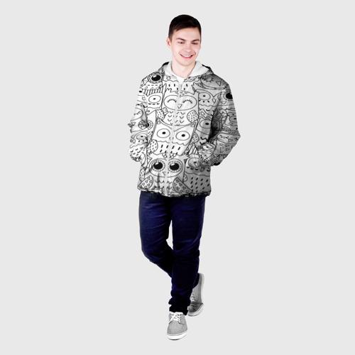 Мужская куртка 3D  Фото 03, Совушки pattern