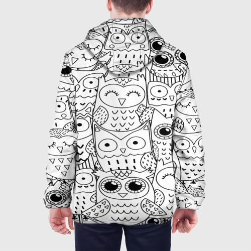 Мужская куртка 3D  Фото 05, Совушки pattern
