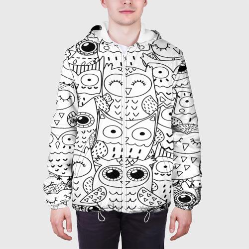 Мужская куртка 3D  Фото 04, Совушки pattern