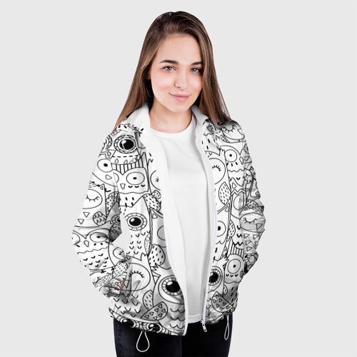 Женская куртка 3D  Фото 04, Совушки pattern
