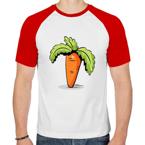 Мужская футболка реглан  Фото 01, Морковь+кролик