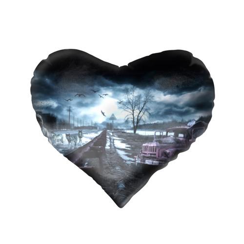 Подушка 3D сердце  Фото 02, S.T.A.L.K.E.R. - С.Е.Р.Г.Е.Й.
