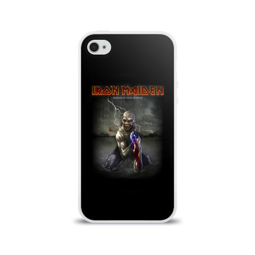 Чехол для Apple iPhone 4/4S силиконовый глянцевый  Фото 01, Iron Maiden manaus amazonas