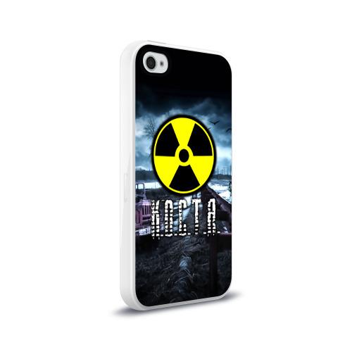 Чехол для Apple iPhone 4/4S силиконовый глянцевый  Фото 02, S.T.A.L.K.E.R. - К.О.С.Т.Я.