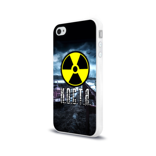 Чехол для Apple iPhone 4/4S силиконовый глянцевый  Фото 03, S.T.A.L.K.E.R. - К.О.С.Т.Я.