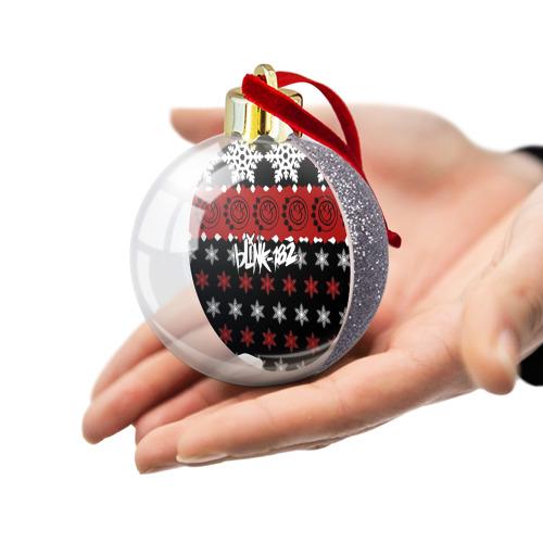 Ёлочный шар с блестками  Фото 03, Праздничный Blink-182