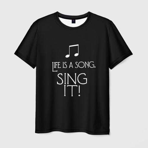Мужская футболка 3D singer