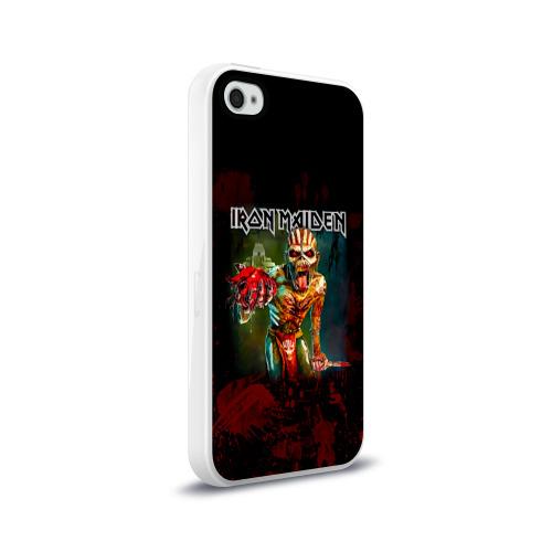 Чехол для Apple iPhone 4/4S силиконовый глянцевый  Фото 02, Индеец Iron Maiden