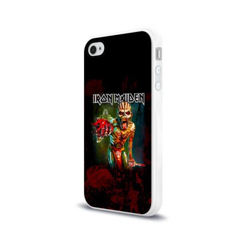 Чехол для Apple iPhone 4/4S силиконовый глянцевый  Фото 03, Индеец Iron Maiden