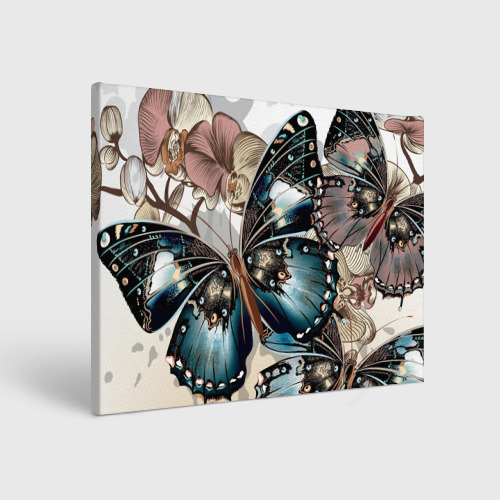 Холст прямоугольный Бабочки Фото 01