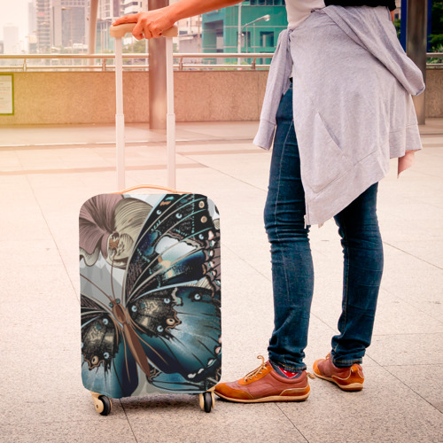 Чехол для чемодана 3D Бабочки Фото 01