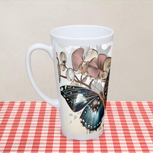 Кружка Латте  Фото 04, Бабочки