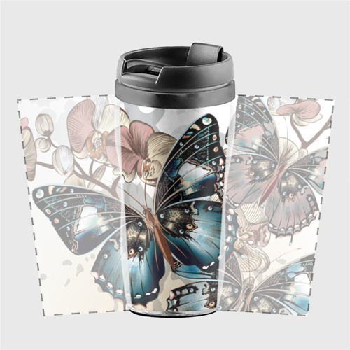 Термокружка-непроливайка Бабочки Фото 01