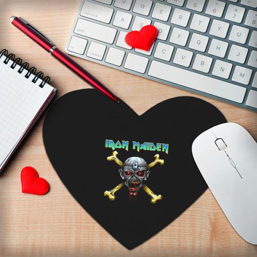 Коврик сердце  Фото 02, Iron Maiden череп и кости