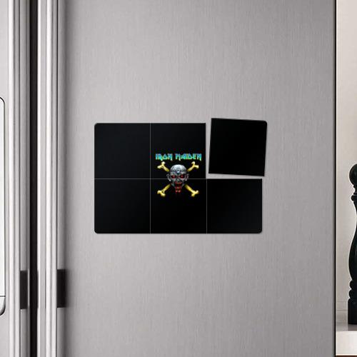 Магнитный плакат 3Х2  Фото 04, Iron Maiden череп и кости