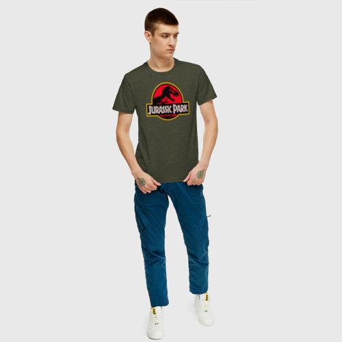 Мужская футболка хлопок Парк Юрского Периода Фото 01