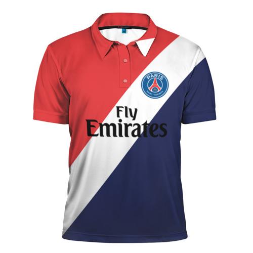 Мужская рубашка поло 3D PSG 2018 Original 14