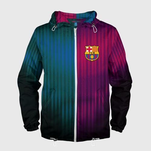 Мужская ветровка 3D  Фото 01, FC Barcelona 2018 abstract