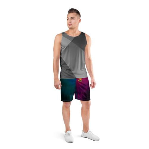 Мужские шорты 3D спортивные  Фото 04, FC Barcelona 2018 abstract