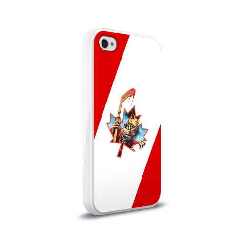 Чехол для Apple iPhone 4/4S силиконовый глянцевый  Фото 02, Флаг Канады Iron Maiden