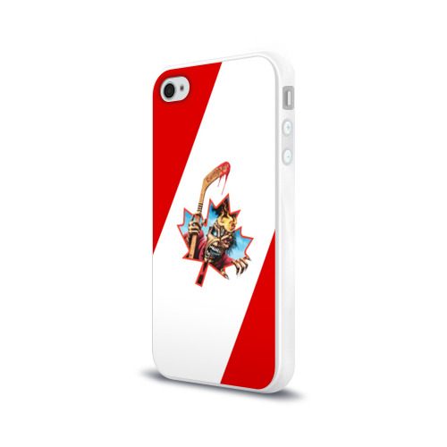Чехол для Apple iPhone 4/4S силиконовый глянцевый  Фото 03, Флаг Канады Iron Maiden