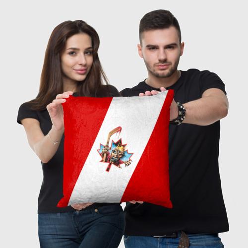 Подушка 3D  Фото 05, Флаг Канады Iron Maiden