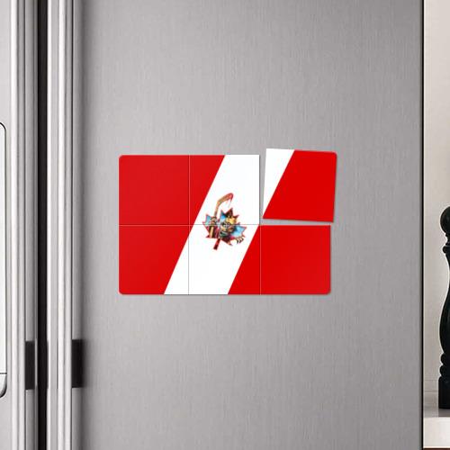 Магнитный плакат 3Х2  Фото 04, Флаг Канады Iron Maiden
