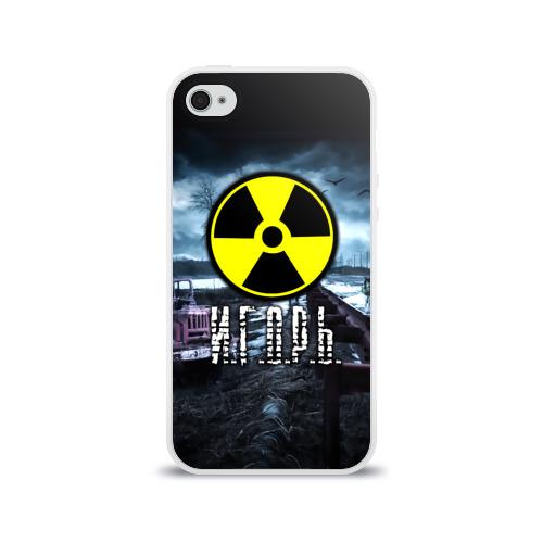 Чехол для Apple iPhone 4/4S силиконовый глянцевый  Фото 01, S.T.A.L.K.E.R. - И.Г.О.Р.Ь.