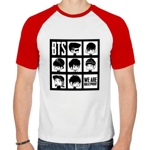 Мужская футболка реглан  Фото 01, We are bulletproof BTS