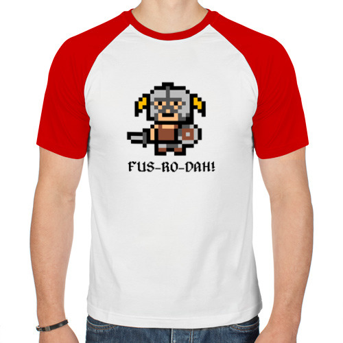 Мужская футболка реглан  Фото 01, Dovahkiin
