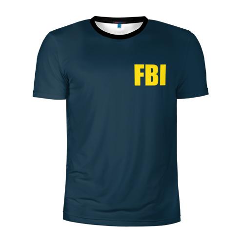 Мужская футболка 3D спортивная FBI