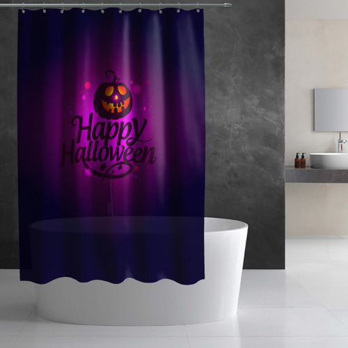 Штора 3D для ванной  Фото 02, Happy Halloween