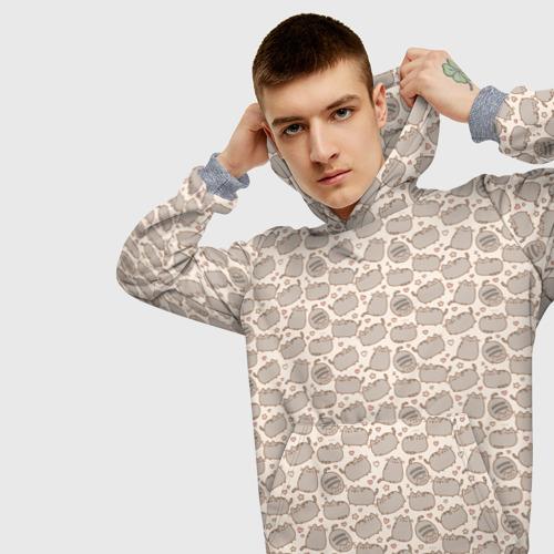 Мужская толстовка 3D Pusheen Pattern Фото 01