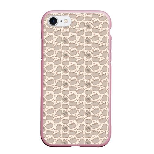 Чехол для iPhone 7/8 матовый Pusheen Pattern Фото 01