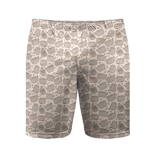 Мужские шорты 3D спортивные Pusheen Pattern