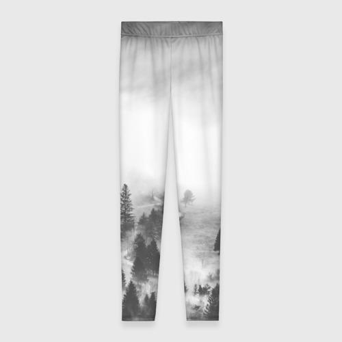 Леггинсы 3D Лес и туман Фото 01