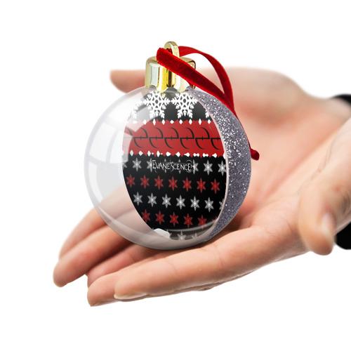 Ёлочный шар с блестками  Фото 03, Праздничный Evanescence