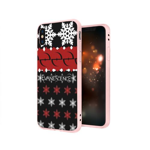 Чехол для Apple iPhone X силиконовый матовый Праздничный Evanescence Фото 01
