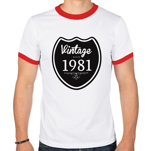 Мужская футболка рингер  Фото 01, Vintage 1981