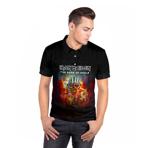 Мужская рубашка поло 3D  Фото 05, Iron Maiden