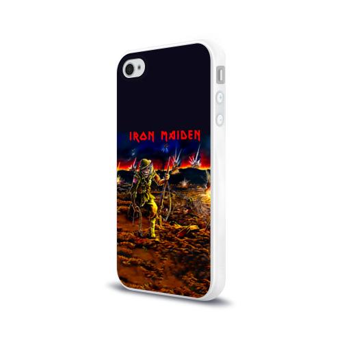 Чехол для Apple iPhone 4/4S силиконовый глянцевый  Фото 03, Боец Iron Maiden